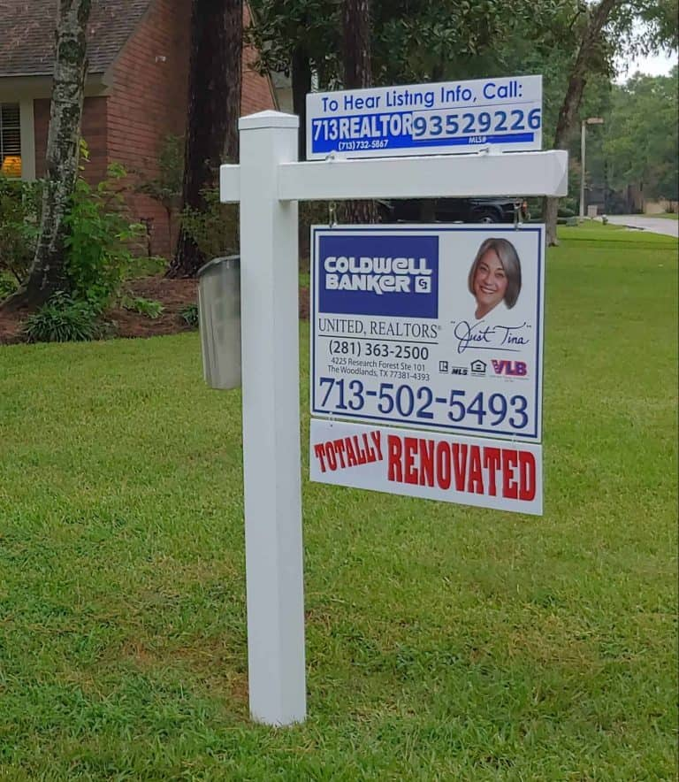 Realtor Vinyl Post and Panel Signville